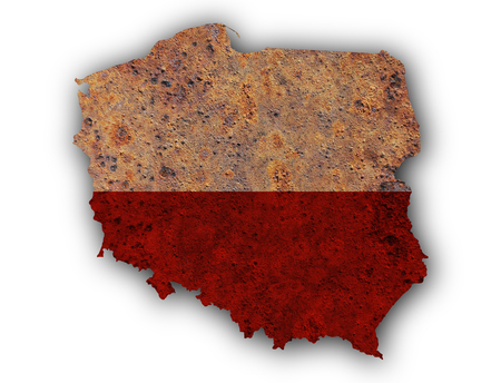 Textured map of Poland in nice colors