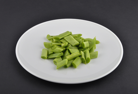 Common beans cut on plate