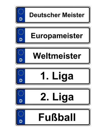 Duitse specifieke voertuignummerplaat op wit