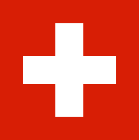 Colored flag of Switzerland Vectores