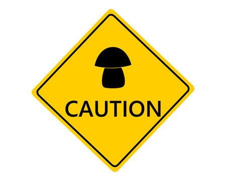 Traffic sign for mushrooms on white Ilustração