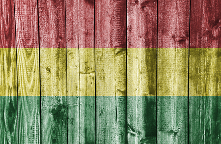 Textured flag of Bolivia in nice colors Banque d'images