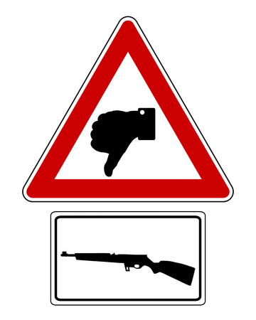 Traffic sign thumbs down for shooting Illustration