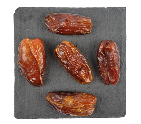 Dates on slate isolated Stock Photo