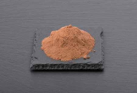 Cocoa powder on shale