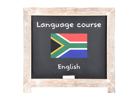 Language course with flag on board Imagens - 106280437