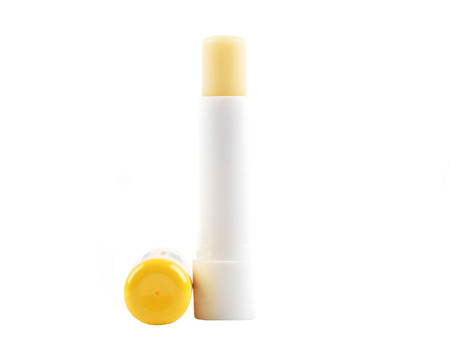 Bees balm lipstick on white  background