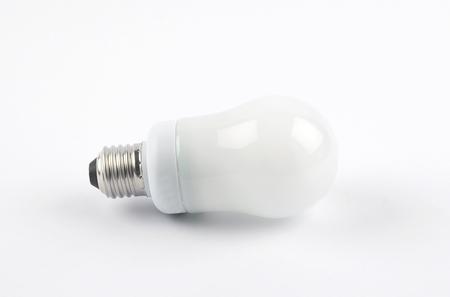 Energy saving lamp on white background Standard-Bild - 115453431