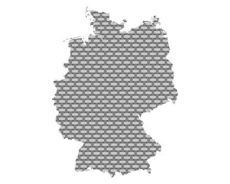 Map of Germany coarse meshed  Stock Illustratie