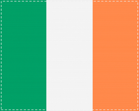 Flag of Ireland on cloth