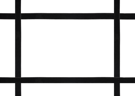 Background with frame out of black velvet ribbons Фото со стока - 117914972