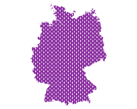 Plain map of Germany