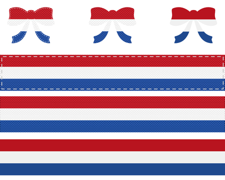 Dutch flag on ribbon and bow