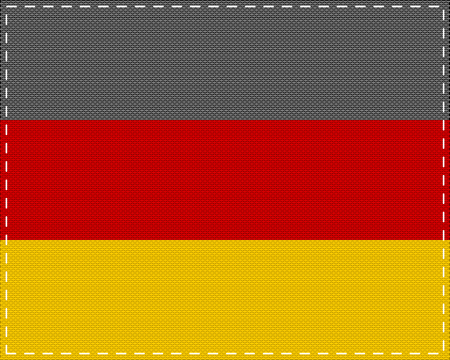 Flag of Germany on cloth