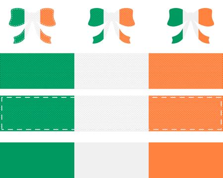 Irish flag on ribbon and bow