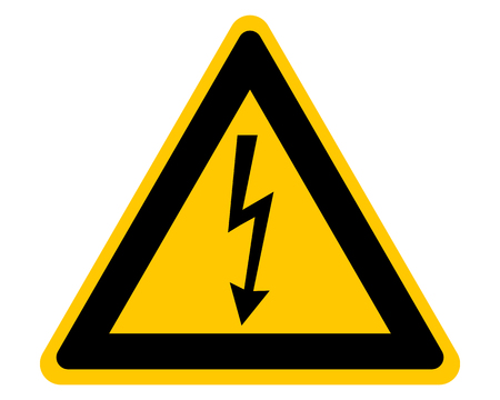 Attention sign with high voltage symbol 向量圖像