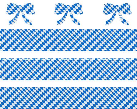 Bavarian flag on ribbon and bow