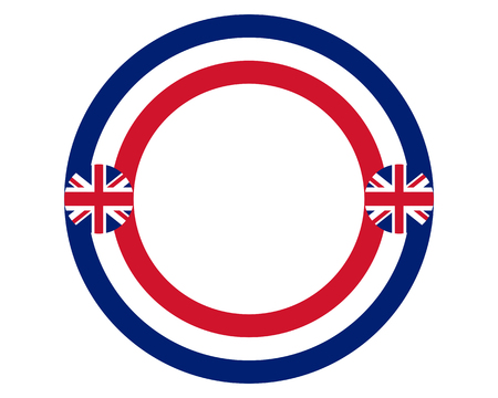 British flag with copy space Illustration