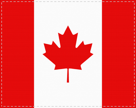 Flag of Canada on cloth