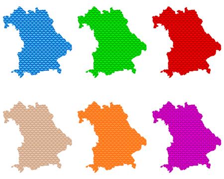 Maps of Bavaria coarse meshed