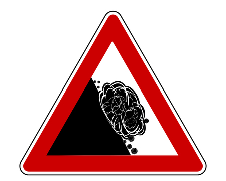 Attention sign with avalanche Illusztráció