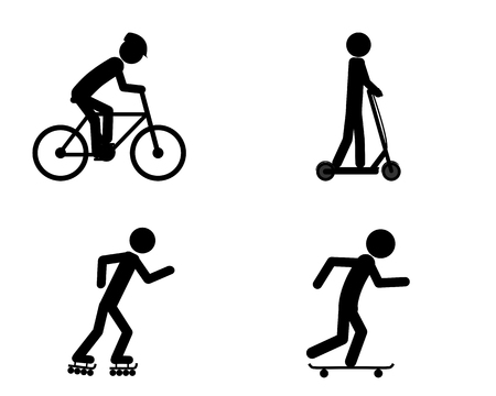 Pictogram of individual sports activities 일러스트