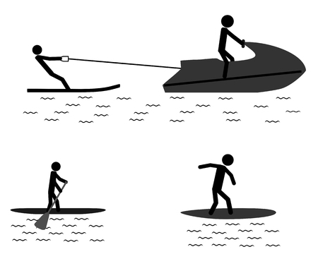 Pictogram of sports activities in water