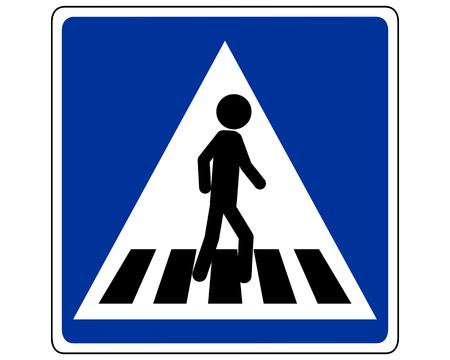 Verkeersbord voetganger op zebrapad
