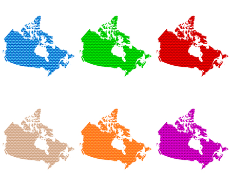 Maps of Canada coarse meshed 向量圖像