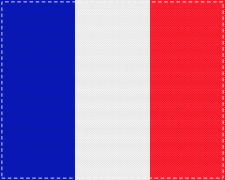 Flag of France on cloth