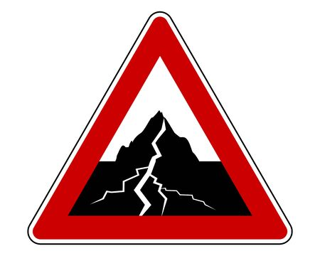 Traffic sign with earthquake Illustration