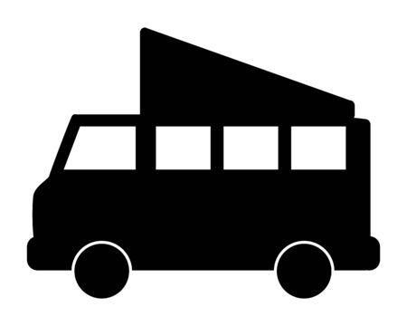 Motor caravan on white background Foto de archivo - 129526909