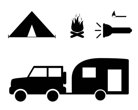 Car with mobile home and camping utilities