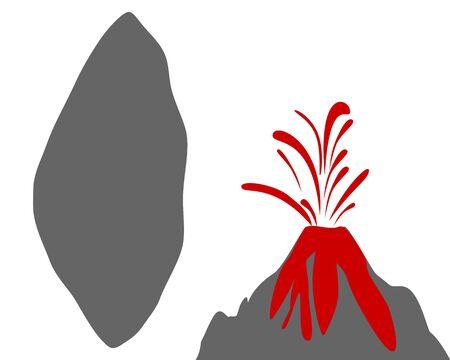 Map of Tonga with volcano Çizim