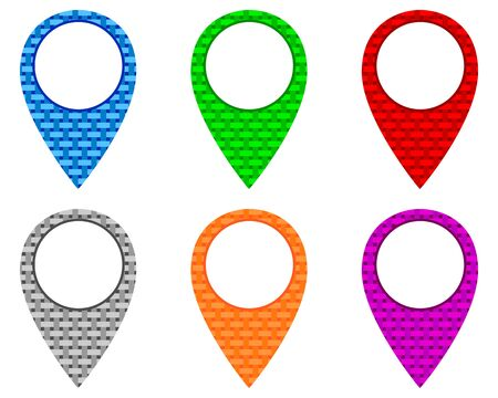 Locator pins in various patterns  イラスト・ベクター素材