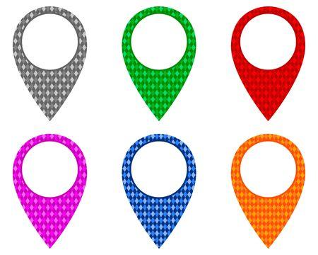 Locator pins in various patterns Illustration