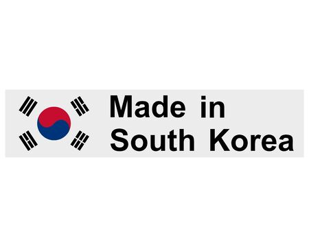 Quality seal made in South Korea