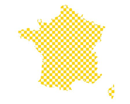 Map of France in checkerboard pattern