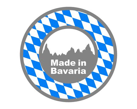 Quality seal made in Bavaria Ilustrace