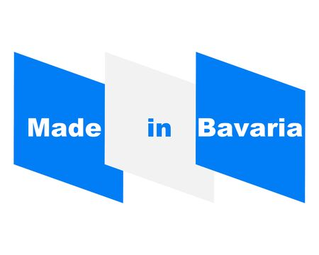 Quality seal made in Bavaria 向量圖像