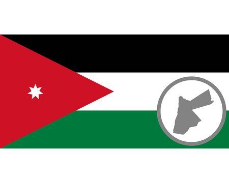 Flag and map o Jordan Ilustracja