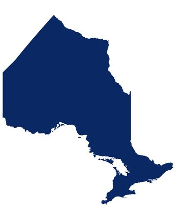 Map of Ontario in blue colour
