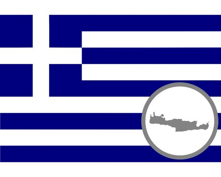 Flag and map of Crete