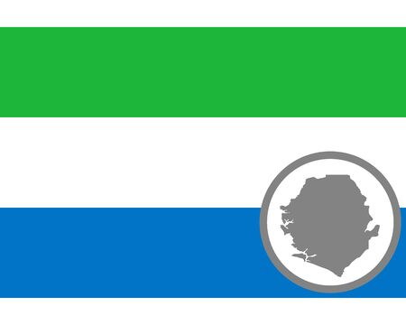 Flag and map of Sierra Leone