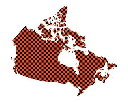 Map of Canada in checkerboard pattern
