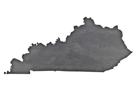 Map of Kentucky on dark slate