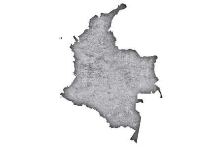 Map of Colombia on weathered concrete Standard-Bild