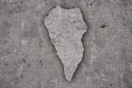 Map of La Palma on weathered concrete