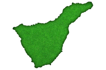 Map of Tenerife on green felt