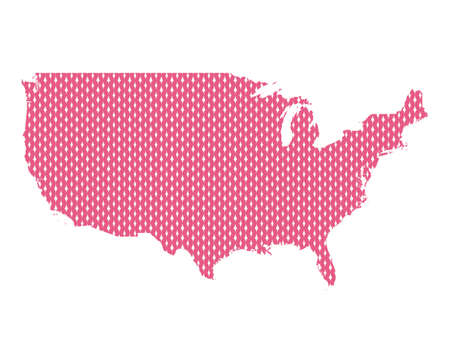 Plain map of the USA